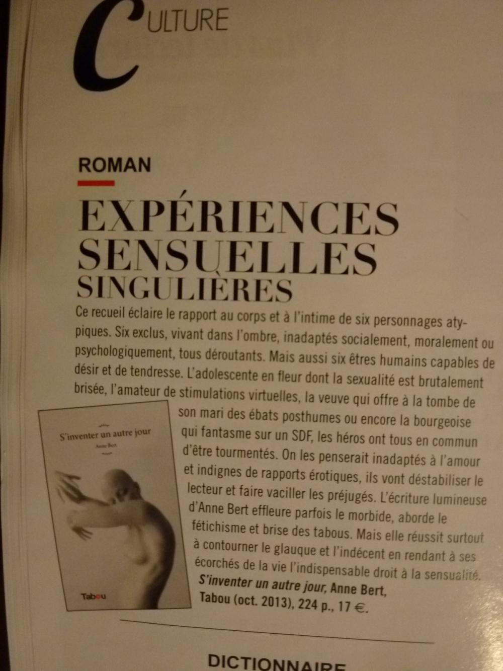 Presse Sensuelle magazine 2014