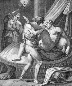 """""""Messaline dans la loge de Lisisca"""" par Carracci"""