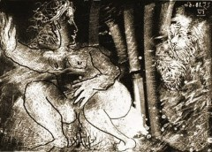 Picasso, Pisseuse surprise par deux vieillards. 1966